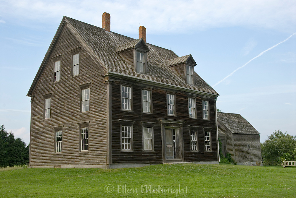 """Olson House in Cushing, Maine, site of Andrew Wyeth's painting """"Christina's World"""". It is listed on the National Register of Historic Places."""