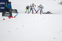 Svahn Linn (SWE), Sundling Jonna (SWE), Nilsson Stina (SWE) during the Ladies sprint free race at FIS Cross Country World Cup Planica 2019, on December 21, 2019 at Planica, Slovenia. Photo By Grega Valancic / Sportida