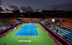 PORTOROZ, SLOVENIA - SEPTEMBER 17:  General view of a stadium during quarterfinal match of the WTA 250 Zavarovalnica Sava Portoroz at SRC Marina, on September 17, 2021 in Portoroz / Portorose, Slovenia. Photo by Vid Ponikvar / Sportida
