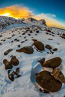 Rocks, Unstad Beach, Lofoten Islands, Arctic, Northern Norway.