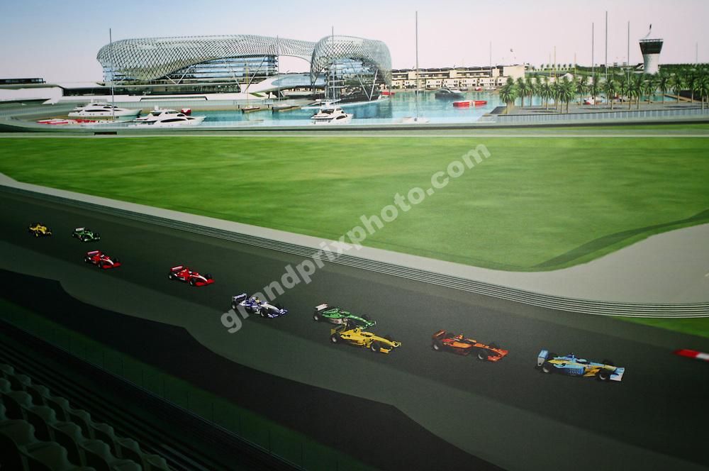 Presentation of the new Yas Marina Circuit in Abu Dhabi before the 2008 Chinese Grand Prix at the Shanghai International Circuit. Photo: Grand Prix Photo