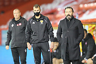 Aberdeen Manager Derek McInnes pointing, directing, signalling, gesture during the Scottish Premiership match between Aberdeen and Hamilton Academical FC at Pittodrie Stadium, Aberdeen, Scotland on 20 October 2020.