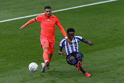 Karlan Grant of Huddersfield Town and Moses Odubajo of Sheffield Wednesday - Mandatory by-line: Daniel Chesterton/JMP - 24/06/2020 - FOOTBALL - Hillsborough - Sheffield, England - Sheffield Wednesday v Huddersfield Town - Sky Bet Championship