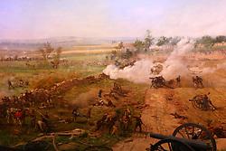 11.01.2016, Museum, Gettysburg, USA, Battle of Gettysburg, im Bild In einem Diorama wird der entscheidende dritte Tag der Schlacht nachgestellt, Schlachtfeld von Gettysburg // View the historic site of the Battle of Gettysburg at Museum in Gettysburg, United States on 2016/01/11. EXPA Pictures © 2016, PhotoCredit: EXPA/ Eibner-Pressefoto/ Hundt<br /> <br /> *****ATTENTION - OUT of GER*****