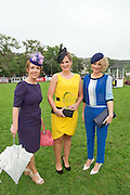 15/08/2013  Jean Osborne from Oughterard (centre) with judges Mairetheresa Ni Cheallaigh from Tg4  and Stylist Orla Sheridan of the Best dressed at the 90th Connemara Pony show in Clifden Co. Galway. Photo:Andrew Downes