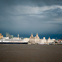 The cruise ship Rotterdamn in Liverpool. The first trans-atlantic liner in decades to visit Liverpool.