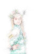 illustration Greek Goddess On white Background