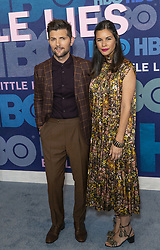 May 29, 2019 - New York, New York, United States - Adam Scott and Naomi Scott attend HBO Big Little Lies Season 2 Premiere at Jazz at Lincoln Center  (Credit Image: © Lev Radin/Pacific Press via ZUMA Wire)