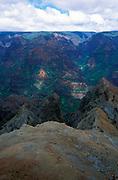 Waimea Canyon State Park, Kauai, Hawaii, showing erosion, 3,000 feet (900 m) deep, colourful