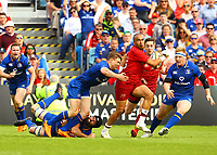 Rugby Union - 2018 Guiness Pro14 - Semi-Final: Leinster vs. Munster<br /> <br /> Simon Zebo (Munster) is tackled by Garry Ringrose (Leinster), at RDS Arena, Dublin.<br /> <br /> COLORSPORT/KEN SUTTON