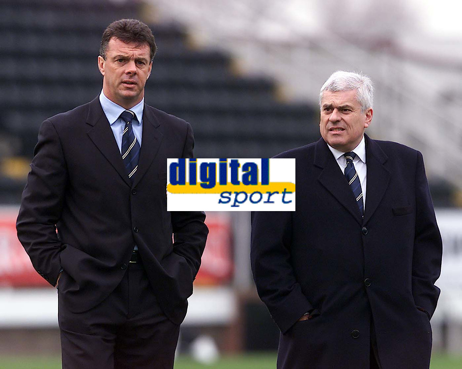 Fotball, Leeds manager David O'Leary (left) and chairman Peter Ridsdale.