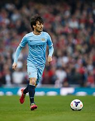 Man City Midfielder David Silva (ESP) in action - Photo mandatory by-line: Rogan Thomson/JMP - 07966 386802 - 29/03/14 - SPORT - FOOTBALL - Emirates Stadium, London - Arsenal v Manchester City - Barclays Premier League.
