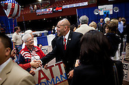 Congressional candidate from the 51st district Nick Popaditch talks with supporters on primary election night as results are announced at Golden Hall in downtown San Diego, CA, June 8, 2010. Popaditch won the Republican nomination unopposed.