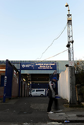 A man walks past the turnstiles at Loftus Road - Photo mandatory by-line: Dougie Allward/JMP - Mobile: 07966 386802 - 04/03/2015 - SPORT - football - London - Loftus Stadium - Queens Park Rangers v Arsenal - Barclays Premier League