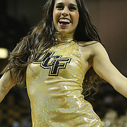 ORLANDO, FL - DECEMBER 31:  A UCF dancer performs during a timeout of an NCAA basketball game between the Tulsa Golden Hurricane and the UCF Knights at the CFE Arena on December 31, 2014 in Orlando, Florida. (Photo by Alex Menendez/Getty Images) *** Local Caption ***