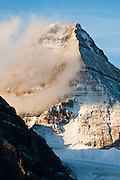 Mount Assiniboine (3618 meters / 11,870 feet), Mount Assiniboine Provincial Park, British Columbia, Canada. This is part of the Canadian Rocky Mountain Parks World Heritage Site declared by UNESCO in 1984.