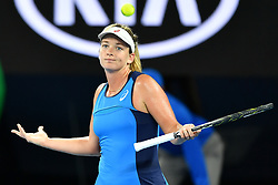 January 22, 2017 - Melbourne, Australia - COCO VANDEWEGHE of USA celebrates after winning her 4th Round Women's Singles match over A. Kerber during the 2017 Australian Open tennis tournament. (Credit Image: © Sydney Low/CSM via ZUMA Wire)