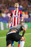 "Atletico de Madrid's player Gabriel ""Gabi"" Fernández and Bayern Munich's player Arturo Vidal during match of UEFA Champions League at Vicente Calderon Stadium in Madrid. September 28, Spain. 2016. (ALTERPHOTOS/BorjaB.Hojas)"