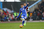 Cesc Fabregas of Chelsea in action. Premier league match, Burnley v Chelsea at Turf Moor in Burnley, Lancs on Sunday 12th February 2017.<br /> pic by Chris Stading, Andrew Orchard Sports Photography.