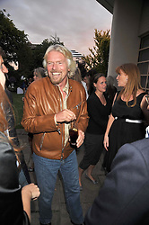 SIR RICHARD BRANSON at The Ralph Lauren Sony Ericsson WTA Tour Pre-Wimbledon Party hosted by Richard Branson at The Roof Gardens, London on June 18, 2009