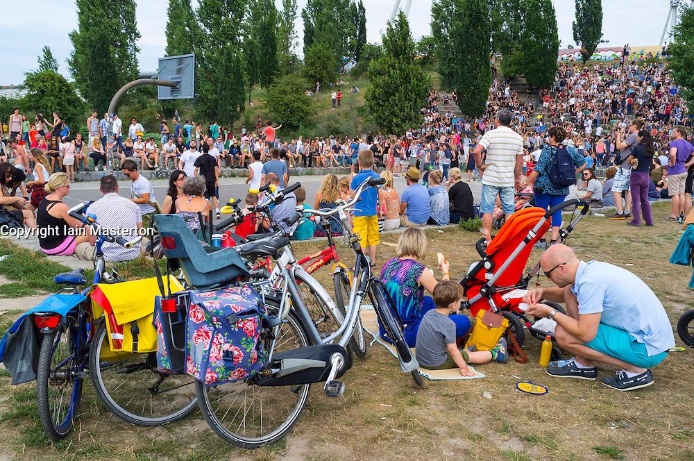 Weekend at Mauerpark in Prenzlauer Berg in Berlin Germany