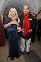 HIS HIGHNESS MAHARAJA GAJ SINGH I I OF MARWAR- JODHPUR and ELIZABETH VAN MERKENSTEIJN at the Royal Rajasthan Gala 2009 benefiting the Indian Head Injury Foundation held at The Banqueting House, Whitehall, London on 9th November 2009.