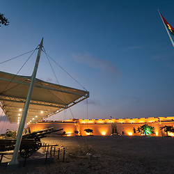 Fotografia da Fortaleza São Miguel de Luanda, o Museu das Forçar Armadas depois da reabilitação que terminiu em 2013