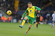 Gary Hooper of Norwich city in action. Barclays Premier league, West Bromwich Albion v Norwich city at the Hawthorns in West Bromwich, England on Sat 7th Dec 2013. pic by Andrew Orchard, Andrew Orchard sports photography.