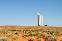 Power plant in the Arizona desert.