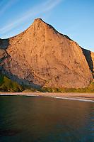Evening light over Bunes Beach, Moskenesoy, Lofoten islands, Norway