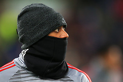 Anthony Martial of Manchester United wears a snood - Mandatory by-line: Matt McNulty/JMP - 17/02/2018 - FOOTBALL - The John Smith's Stadium - Huddersfield, England - Huddersfield Town v Manchester United - Emirates FA Cup Fifth Round