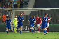 Fotball<br /> EM U21 Israel<br /> 11.06.2013<br /> Norge v Italia 1:1<br /> Foto: VI Images/Digitalsport<br /> NORWAY ONLY<br /> <br /> (L-R) Marco Capuano of Italy U21, goalkeeper Arild Østbø of Norway U21, Vasco Regini of Italy U21, Nicola Sansone of Italy U21, Stefan Strandberg of Norway U21, Andrea Bertolacci of Italy U21, Manolo Gabbiadini of Italy U21 during the UEFA U21 Championship match between Norway U21 and Italy U21 on June 11, 2013 at the Bloomfield stadium in Tel Aviv, Israel.