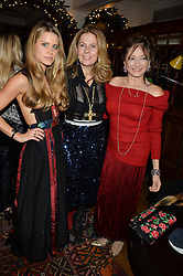 LONDON, ENGLAND 1 DECEMBER 2016: Irene Forte, Lady Forte, Dorrit Moussaieff Left to right, at the Smythson & Brown's Hotel Christmas Party held at Brown's Hotel, Albemarle St, Mayfair, London, England. 1 December 2016.