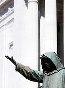 Sculpture on Piazza Campidoglio, Rome, Italy.