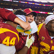 The USC Trojans defeated the Stanford Cardinal in the 2017 Pac-12 Football Championship.
