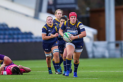 Captain Carys Phillips of Worcester Warriors Women charges at the visitor's defence - Mandatory by-line: Nick Browning/JMP - 14/11/2020 - RUGBY - Sixways Stadium - Worcester, England - Worcester Warriors Women v Loughborough Lightning - Allianz Premier 15s