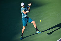 March 29, 2018 - Miami, FL, United States - KEY BISCAYNE, FL - MARCH, 29: Kevin Anderson (RSA) in action during day 11 of the 2018 Miami Open held at the Crandon Park Tennis Center on March 29, 2018 in Key Biscayne, Florida.   Credit: Andrew Patron/Zuma Wire (Credit Image: © Andrew Patron via ZUMA Wire)