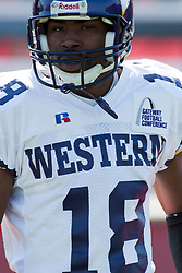 29 October 2005:  Leatherneck Carl Sims. With a final score of 31 - 17, Western Illinois University Leathernecks collared the Illinois State University Redbirds knocking them from their 18th ranked perch at Hancock Field on Illinois State's campus in Normal IL