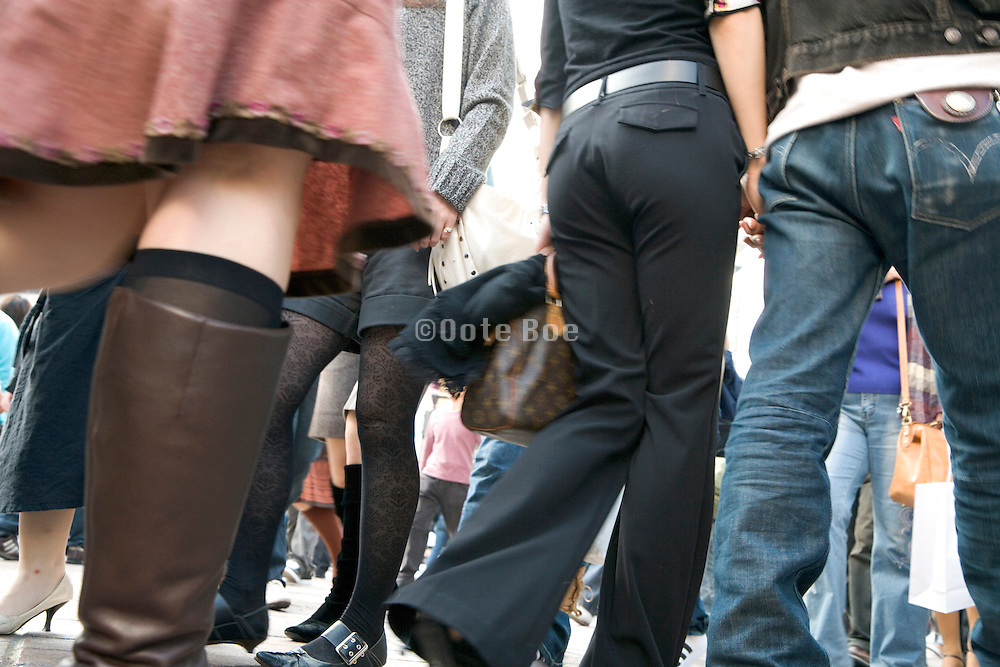 young adult woman walking in the Shibuya district Tokyo Japan