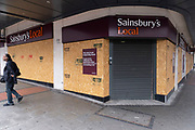 With most shops now open but with retail sales suffering due to the Coronavirus pandemic, this Sainsburys Local supermarket is closed due to lower customer numbers in the city centre on 5th August 2020 in Birmingham, United Kingdom. Coronavirus or Covid-19 is a respiratory illness that has not previously been seen in humans. While much or Europe has been placed into lockdown, the UK government has put in place more stringent rules as part of their long term strategy, and in particular social distancing.