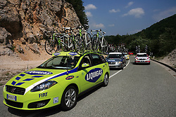 Car of Liquigas during 1st stage of the 15th Tour de Slovenie from Ljubljana to Postojna (161 km) , on June 11,2008, Slovenia. (Photo by Vid Ponikvar / Sportal Images)/ Sportida)