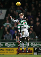 Photo: Lee Earle.<br /> Yeovil Town v Swansea City. Coca Cola League 1. 24/02/2007.Swansea's Alan Tate (L) clashes in the air with Yeovil's Wayne Gray.