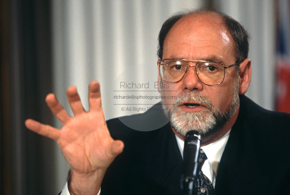 Gordon Eubanks, CEO of Symantec Corporation during a technology event at the National Press Club June 4, 1997 in Washington, DC.