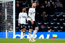 Richard Keogh of Derby County cuts a frustrated figure - Mandatory by-line: Robbie Stephenson/JMP - 20/02/2019 - FOOTBALL - Pride Park Stadium - Derby, England - Derby County v Millwall - Sky Bet Championship
