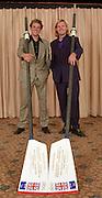 Twickenham, ENGLAND 2001 British International Rowing Team party left James Cracknell and Tim Foster © Peter Spurrier/Intersport-Images Tel +44 7973 819 551 20010604 Henley Royal Regatta, Henley, Great Britain.