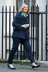 © Licensed to London News Pictures. 17/01/2017. London, UK. Home Secretary AMBER RUDD attends a cabinet meeting in Downing Street on Tuesday, 17 January 2017 before Prime Minister Theresa May's Brexit plan speech. Photo credit: Tolga Akmen/LNP