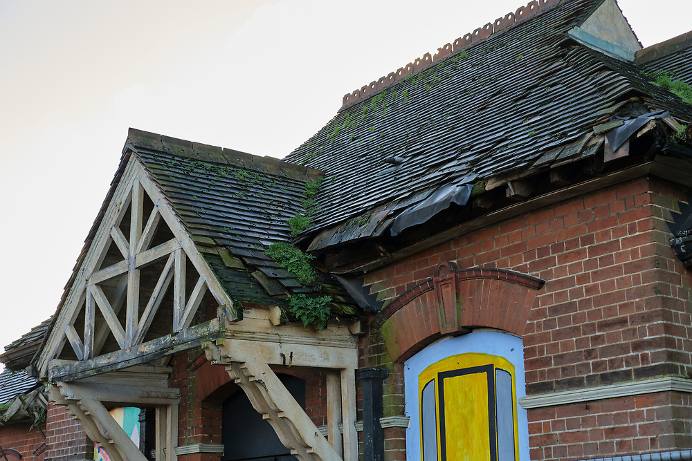 A view of the poor condition of the original Trimley Station building now disused & in poor condition.<br /> <br /> Photo by Jonathan J Fussell, COPYRIGHT 2020