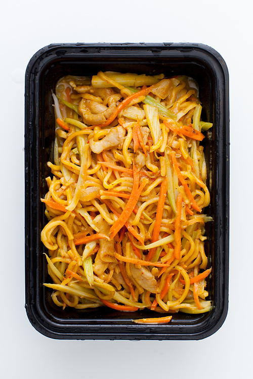 Sauteed Curry Chicken Noodles from Republic - Free - #snowshelter gift from Gerry for comming into work during terrible weather.