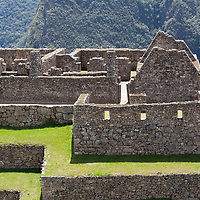 Partial view of the residential section of Machu Picchu.