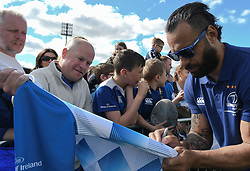 May 13, 2018 - Dublin, Ireland - Leinster captain Isa Nacewa signs autographs during the homecoming ceremony at Energia Park, Donnybrook, following their victory in the European Champions Cup Final in Bilbao, Spain..On Sunday, May 13, 2018, in Donnybrook, Dublin, Ireland. (Credit Image: © Artur Widak/NurPhoto via ZUMA Press)